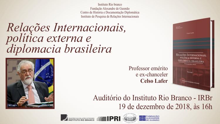 Lançamento de obra de ensaios do ex-ministro Celso Lafer
