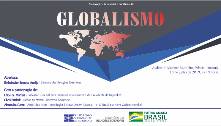 Itamaraty e FUNAG promovem seminário sobre globalismo
