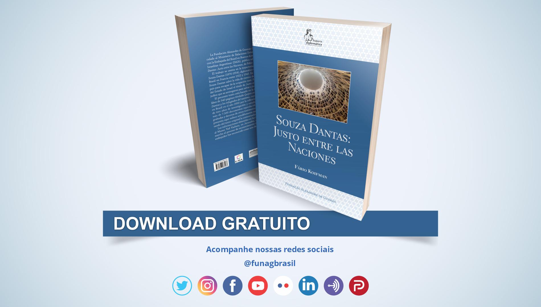 FUNAG lança edição em espanhol de livro sobre Souza Dantas