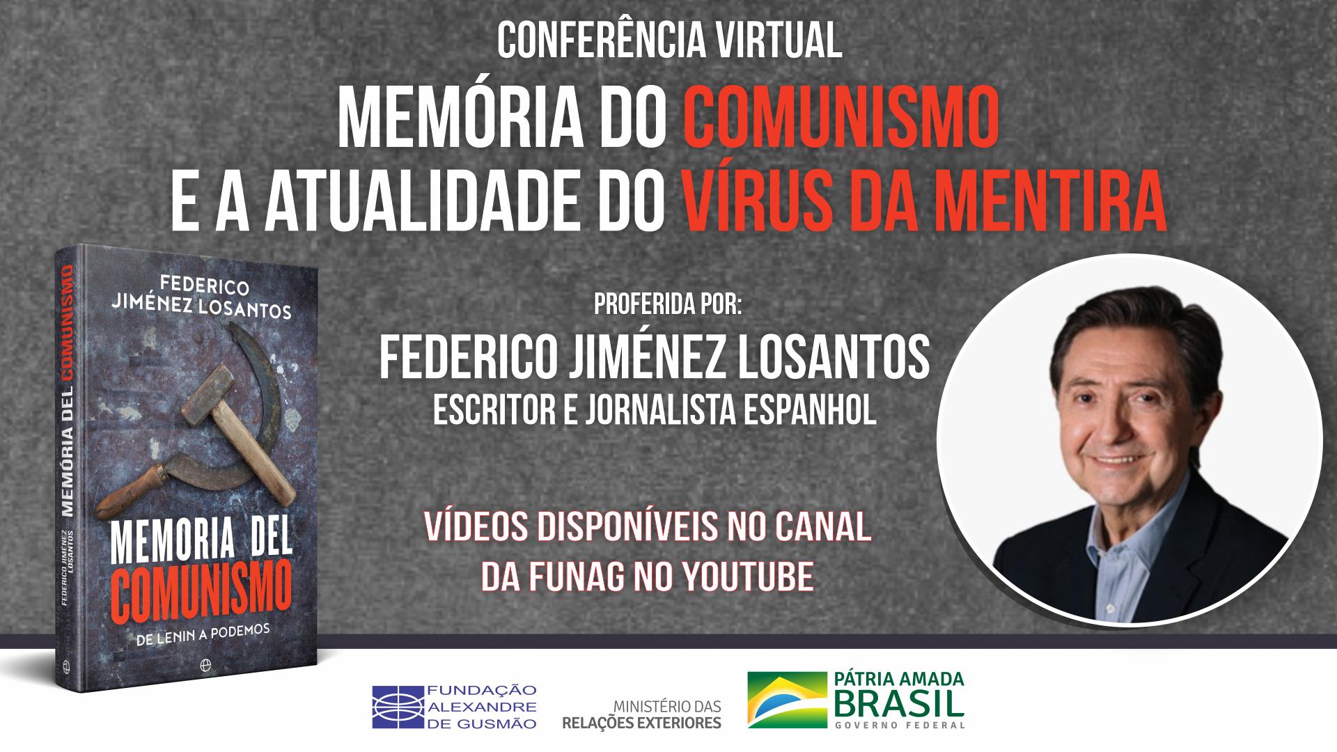 """Assista aos vídeos da conferência """"Memória do comunismo e a atualidade do vírus da mentira"""""""