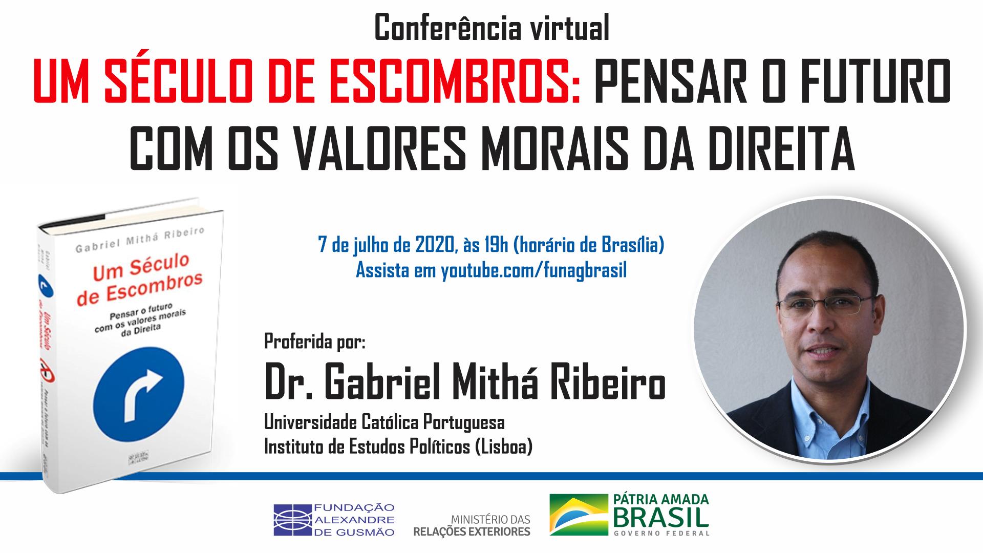 """Conferência """"Um século de escombros: pensar o futuro com os valores morais da direita"""", com Gabriel Mithá Ribeiro"""