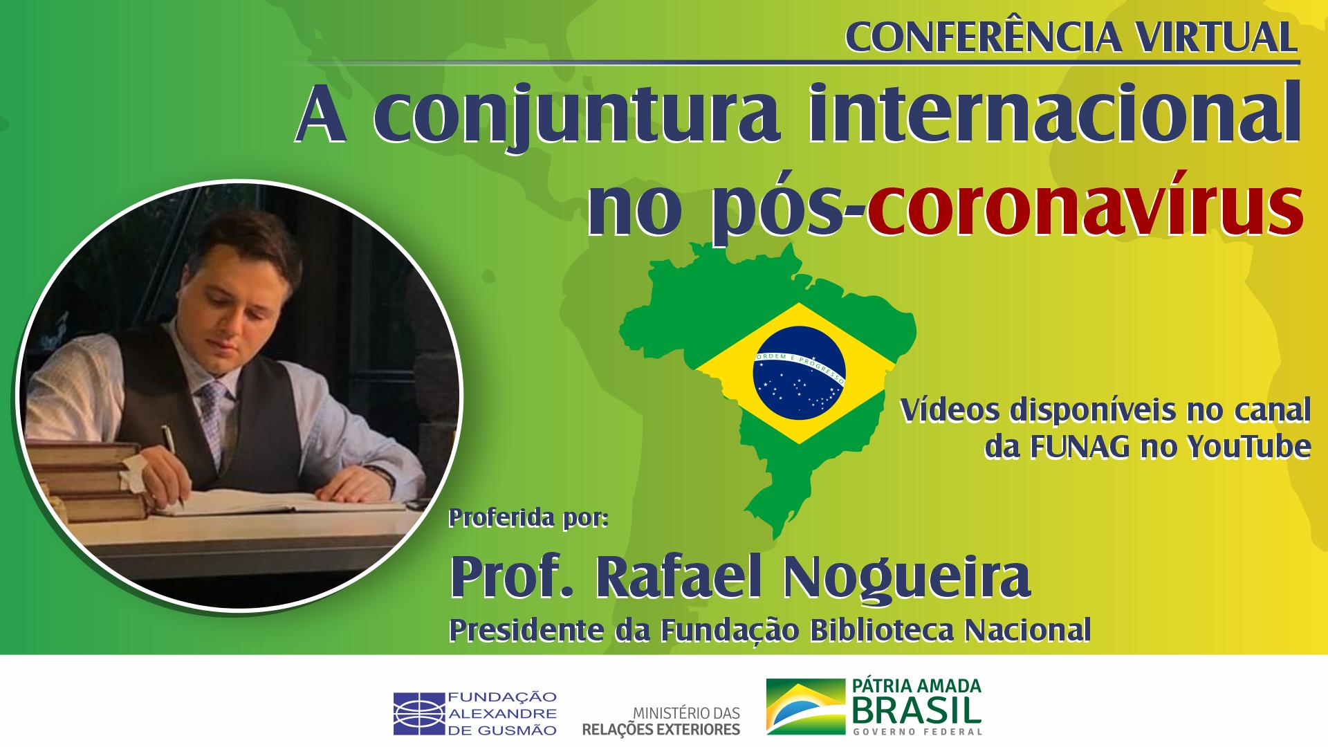 Assista à conferência com o Prof. Rafael Nogueira, presidente da Biblioteca Nacional