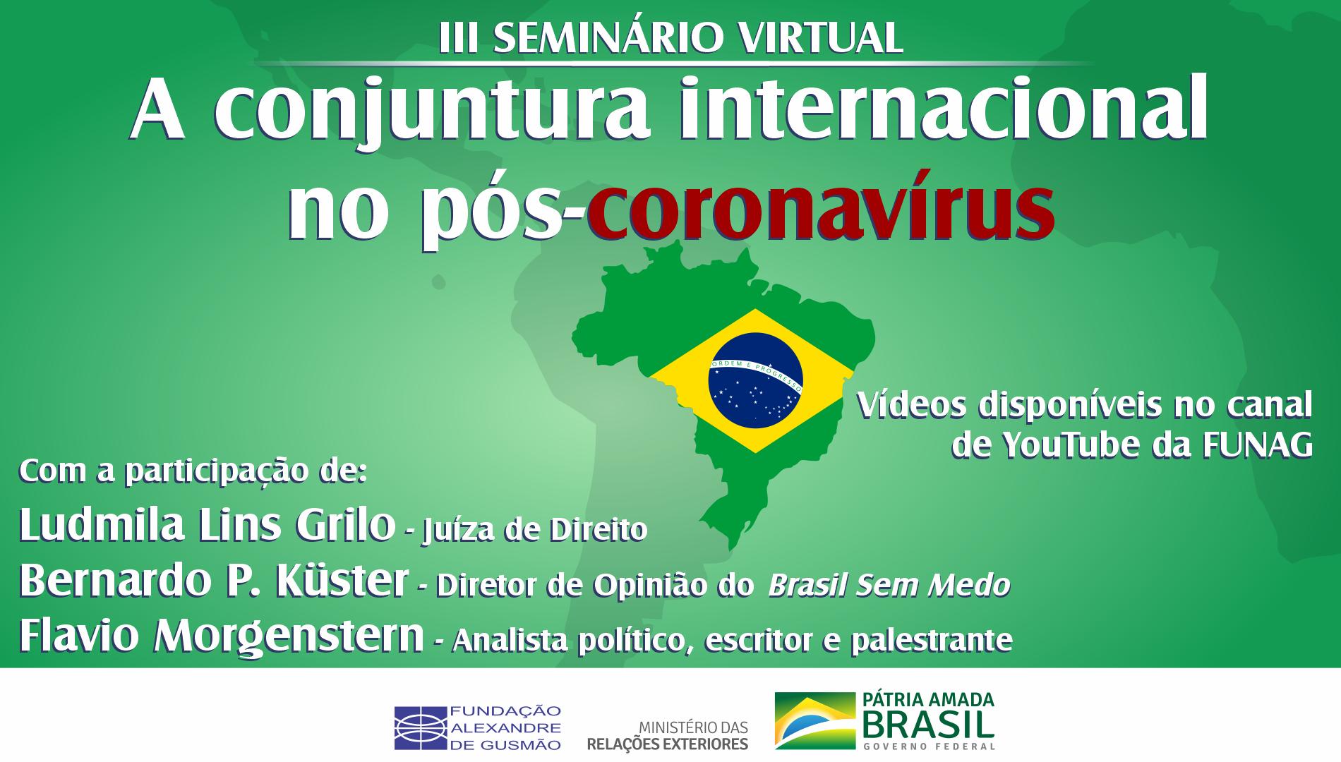 """Assista ao III seminário virtual """"A conjuntura internacional no pós-coronavírus"""""""