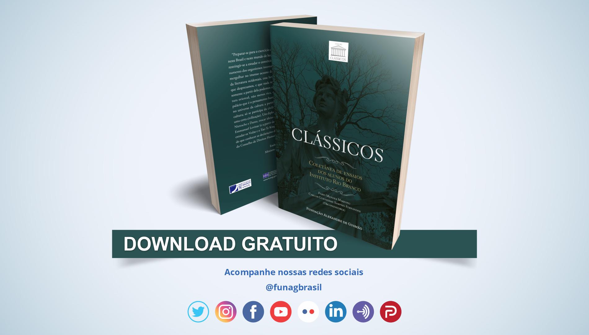 FUNAG lança coletânea de ensaios dos alunos do IRBr sobre clássicos do pensamento e da literatura ocidentais