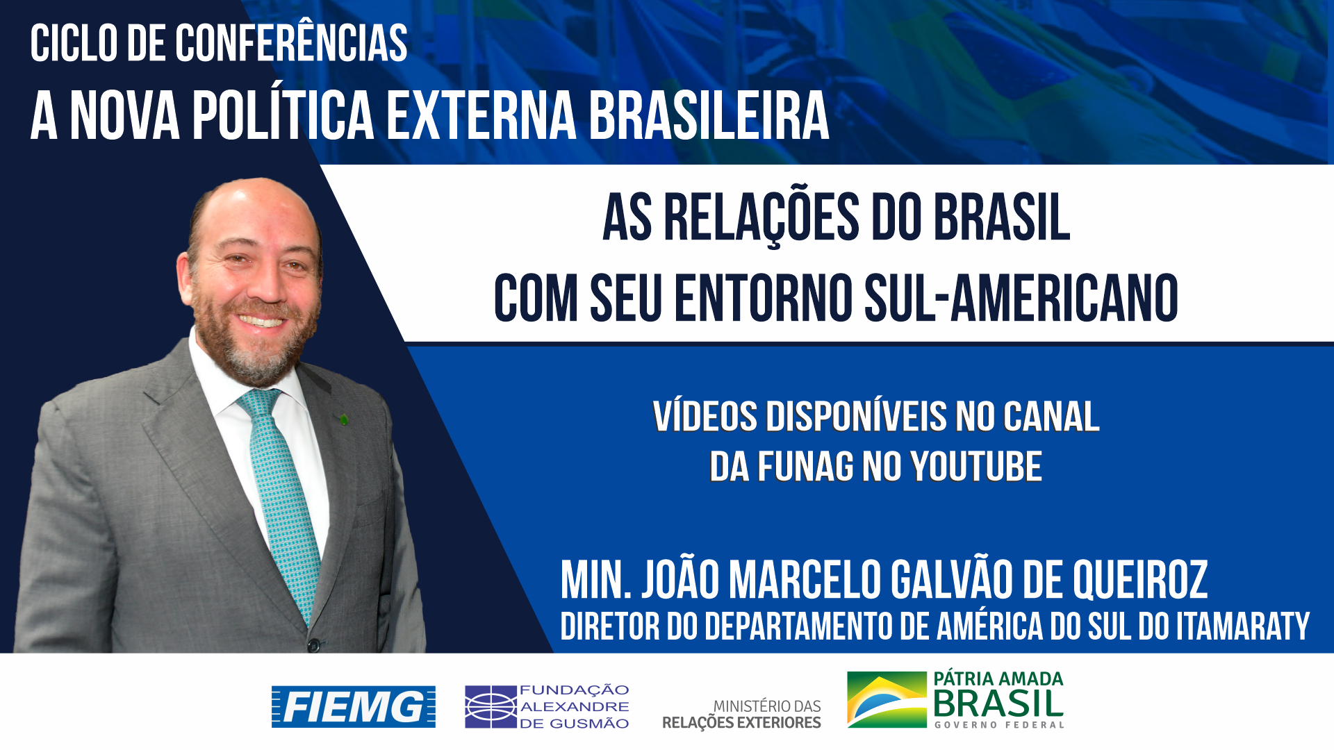 """Assista aos vídeos da conferência """"As relações do Brasil com seu entorno sul-americano"""""""