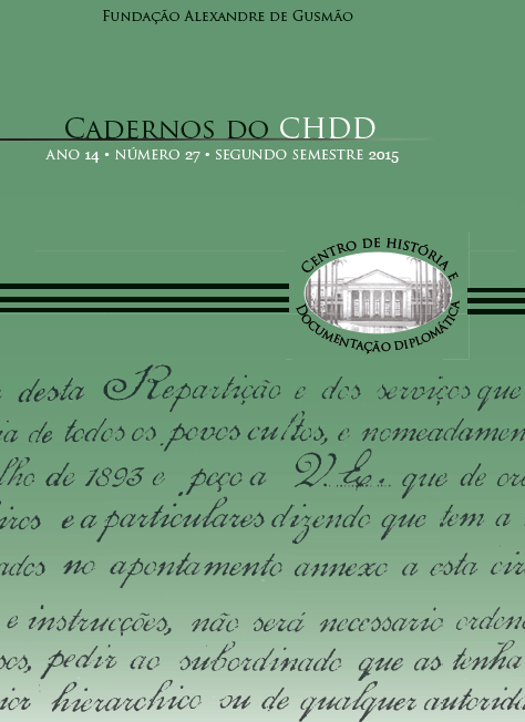 Cadernos do CHDD - ano 14 • número 27 • segundo semestre 2015