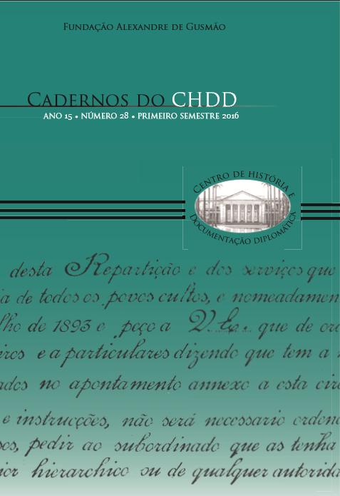 Cadernos do CHDD - ano 15 • número 28 • primeiro semestre 2016