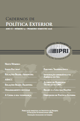 Cadernos de Política Exterior - ano II • número 3 • primeiro semestre 2016