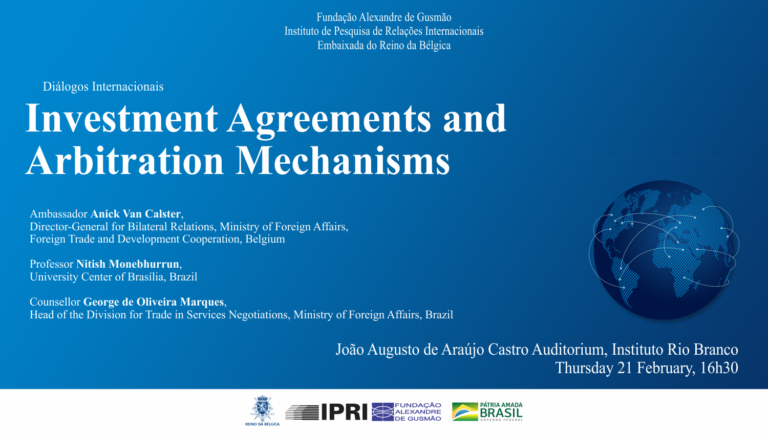 Diálogos Internacionais: Investment Agreements and Arbitration Mechanisms