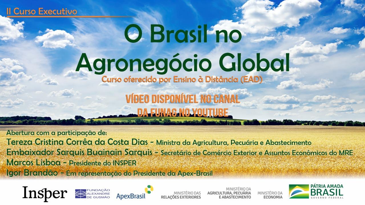 """Assista aos vídeos da conferência da cerimônia de abertura da 2ª edição do curso """"O Brasil no Agronegócio Local"""""""