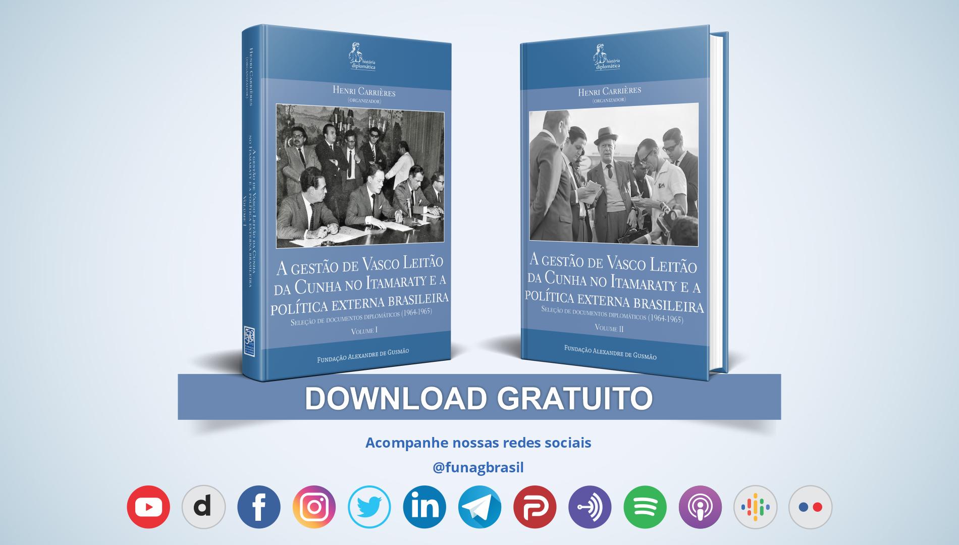 FUNAG lança obra sobre a gestão de Vasco Leitão da Cunha no Itamaraty